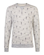 HEREN CACTUS PRINT SWEATER_HEREN CACTUS PRINT SWEATER, Lichtblauw