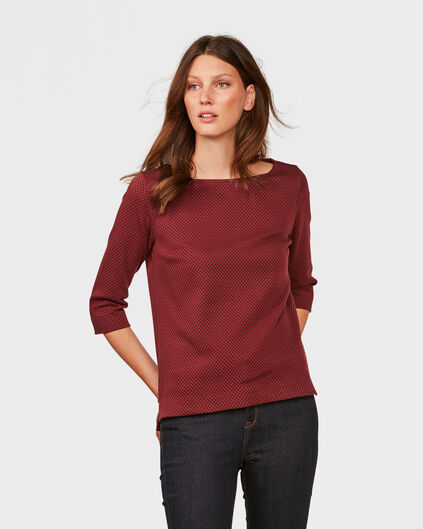 DAMES STRUCTURED TOP Roestbruin