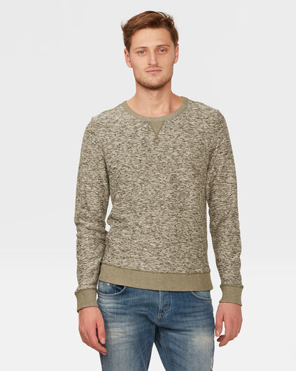 HEREN MELANGE SWEATER Groen