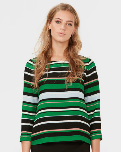 DAMES COLOR STRIPED BLOUSE Groen