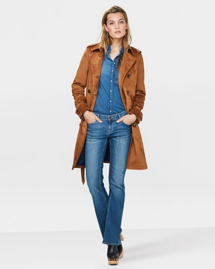 DAMES SUEDE LOOK TRENCHCOAT Taupe