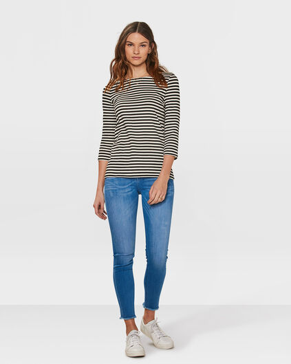 DAMES SKINNY FIT CROPPED JEANS Felblauw