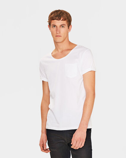 HEREN DEEP R-NECK T-SHRT Wit