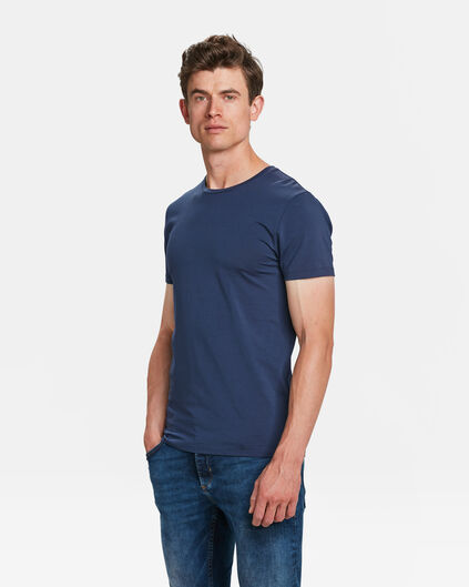 HEREN R-NECK T-SHIRT Blauw