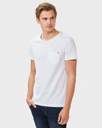 HEREN ORGANIC COTTON ONE-POCKET T-SHIRT Wit