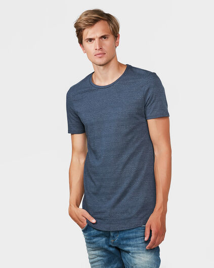 HEREN PRINT T-SHIRT Marineblauw