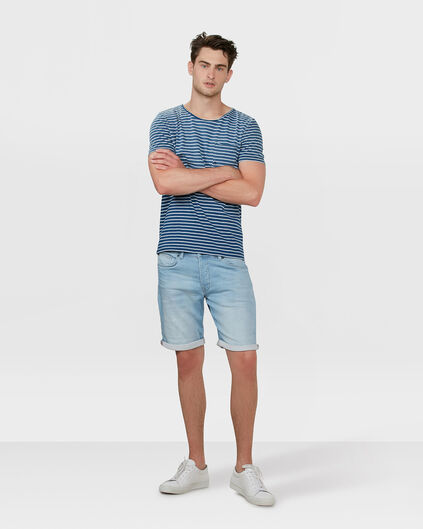 HEREN REGULAR FIT JOG DENIM SHORT Lichtblauw