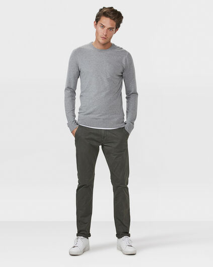 HEREN REGULAR FIT CASUAL CHINO Lichtgrijs