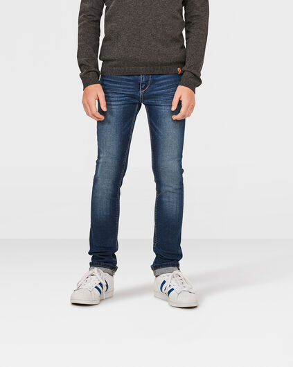 JONGENS SUPER SKINNY POWER STRETCH JEANS Donkerblauw