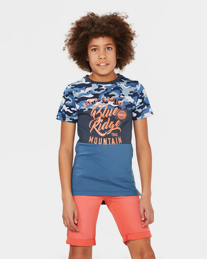 JONGENS COLOR BLOCK T-SHIRT Grijsgroen
