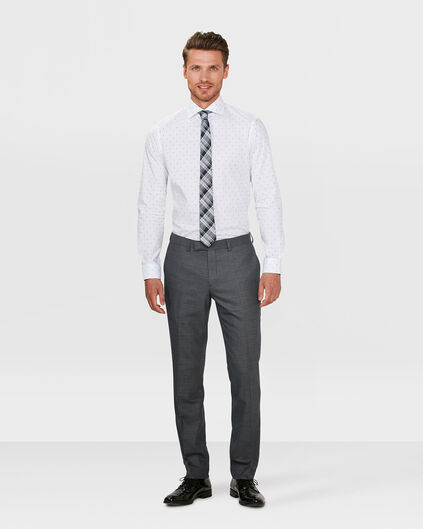 HEREN SLIM FIT PANTALON BOSTON Donkergrijs