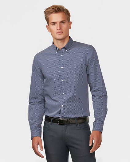 HEREN SLIM FIT BUTTON DOWN OVERHEMD Donkerblauw