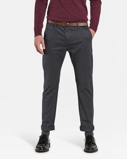 HEREN SLIM FIT CHINO Donkergrijs