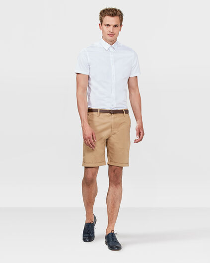 HEREN SLIM FIT CHINO SHORT Lichtbruin