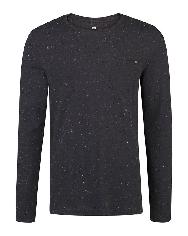 HEREN SPECKLE STRUCTURE SHIRT Donkerblauw