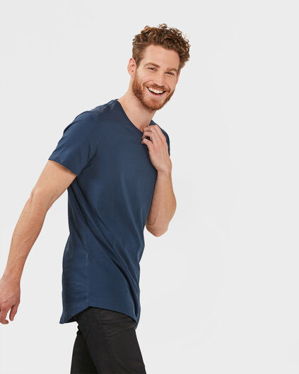 HEREN EXTRA LONG FIT T-SHIRT Blauw