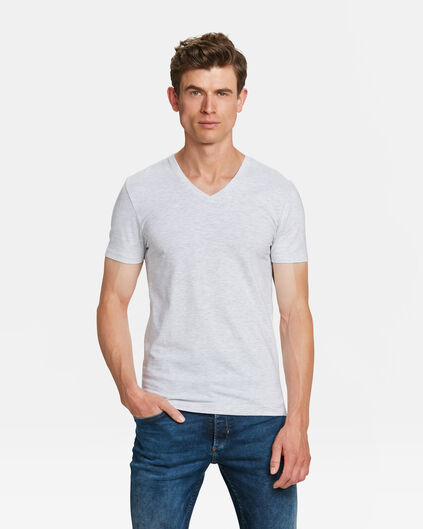 HEREN V-NECK T-SHIRT Gebroken wit