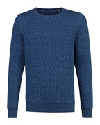 HEREN PATTERN SWEATER_HEREN PATTERN SWEATER, Blauw