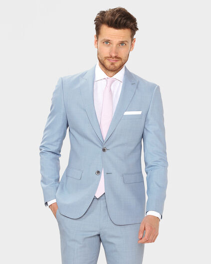 HEREN ULTRA SLIM FIT BLAZER LYON Lichtblauw