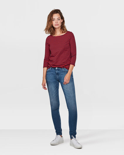 DAMES MID RISE SKINNY 360° STRETCH JEANS Blauw