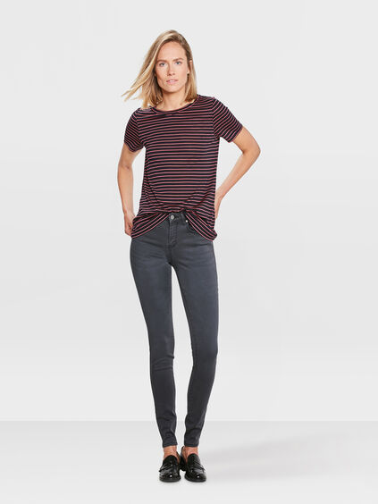 DAMES SUPER SKINNY SATEEN STRETCH BROEK Zwart