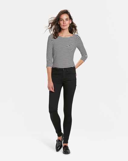 DAMES MID RISE SUPER SKINNY RECOVERY JEANS Zwart