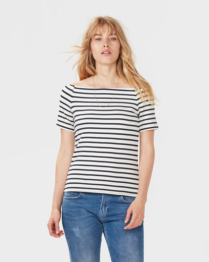 DAMES STRIPED TOP Donkerblauw