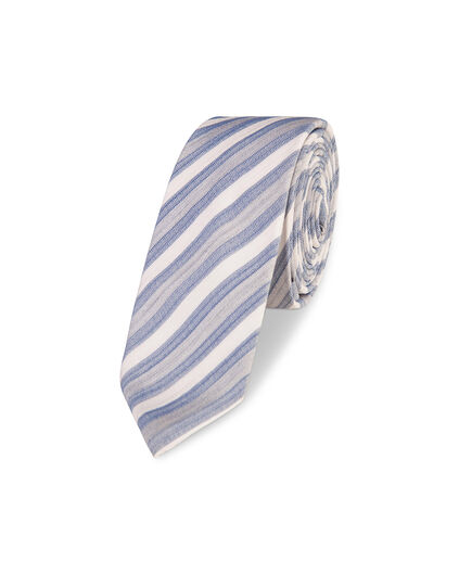 HEREN STRIPED DESSIN TIE Grijs