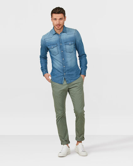 HEREN SLIM FIT CASUAL CHINO Groen