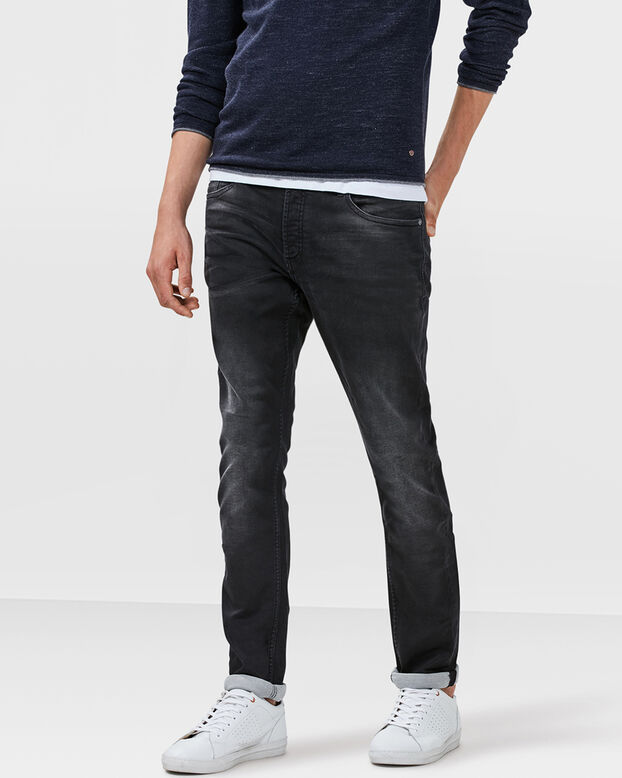 HEREN SLIM TAPERED JOG DENIM Zwart