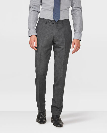 HEREN FINE CHECKED SLIM FIT PANTALON DAWLEY Donkergrijs