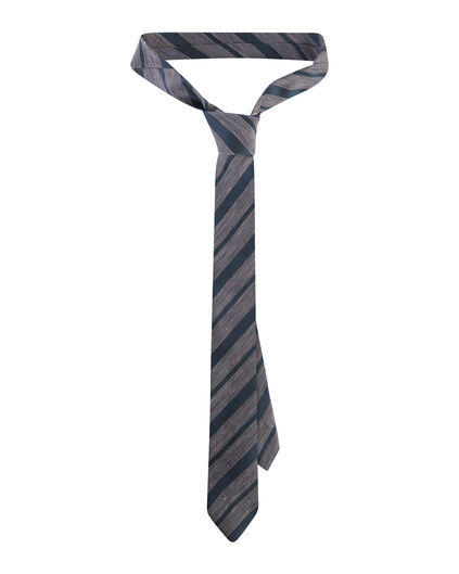 HEREN STRIPED DESSIN TIE Donkerblauw