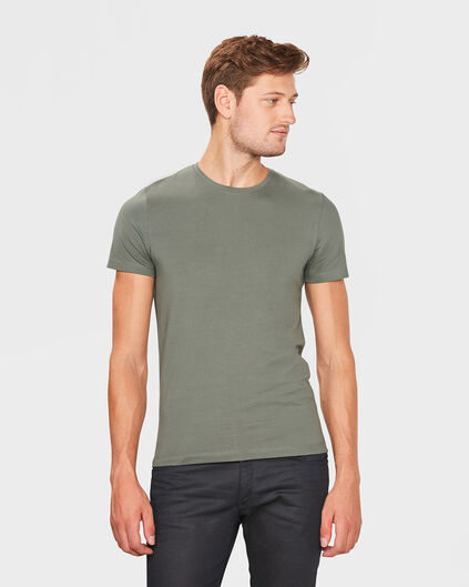 HEREN R-NECK T-SHIRT Mosgroen