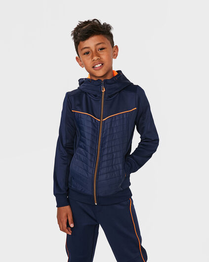 JONGENS SPORTY HOODED VEST Donkerblauw