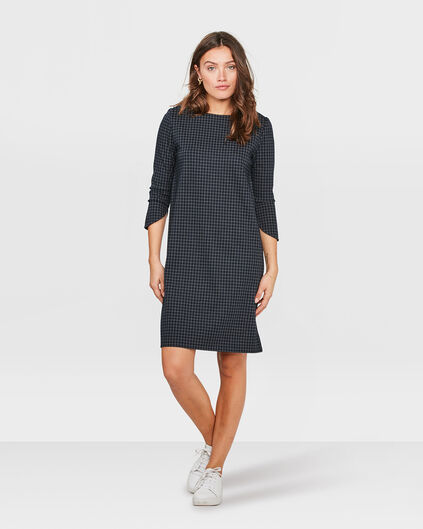 DAMES CHECKED JURK Donkerblauw