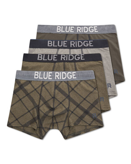 HEREN BLUE RIDGE BOXERSHORTS, 4-PACK Legergroen