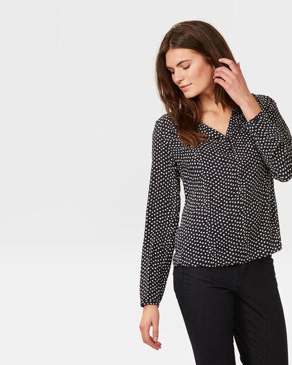 DAMES FINE DOT BLOUSE Donkerblauw