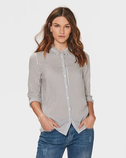 DAMES STRIPE BLOUSE Wit