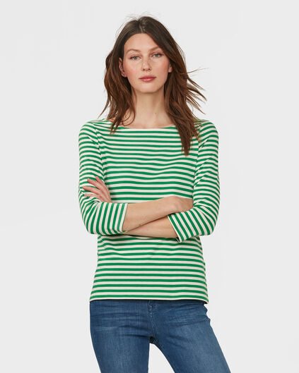 DAMES STRIPED SHIRT Groen