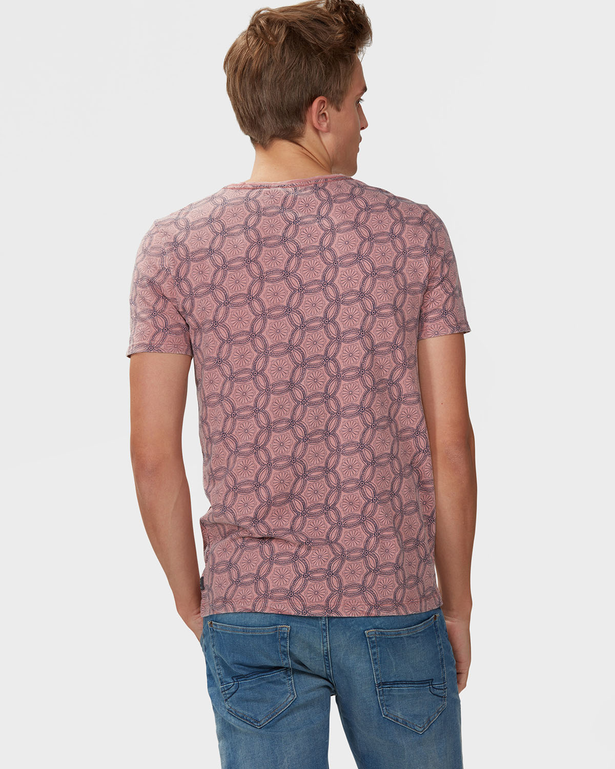 Heren all over retro print t shirt 79150095 we fashion for Vintage t shirt printing