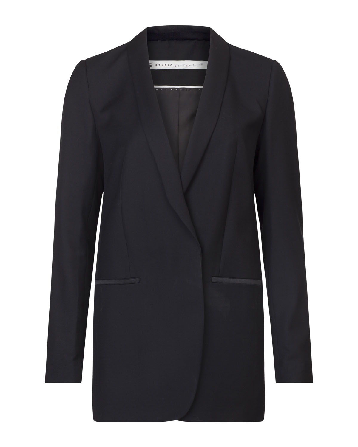 Dames long smoking blazer