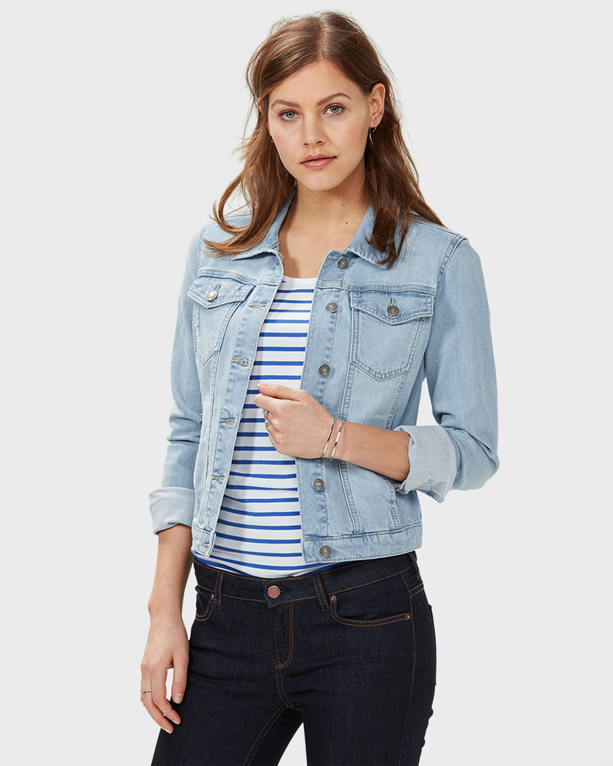 dames trucker denim jacket 79212106 we fashion. Black Bedroom Furniture Sets. Home Design Ideas