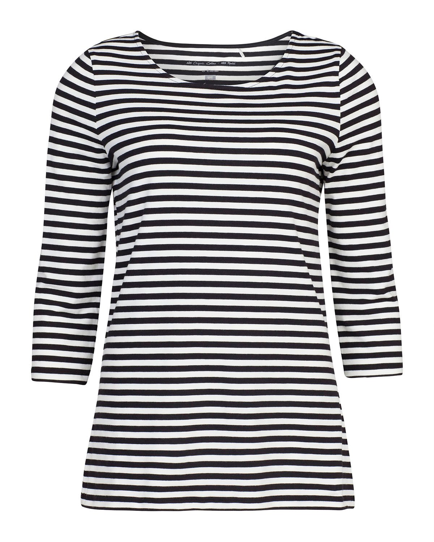 Dames organic cotton stripe shirt
