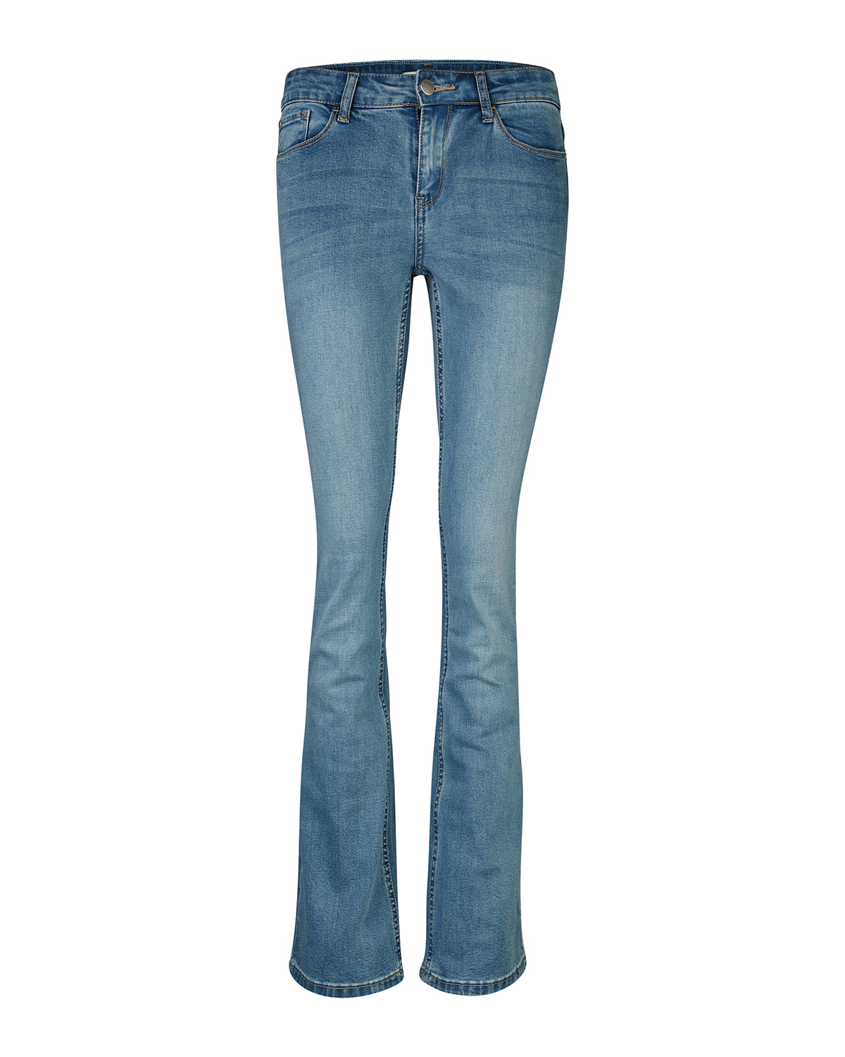 DAMES MID RISE SKINNY FLARE JEANS