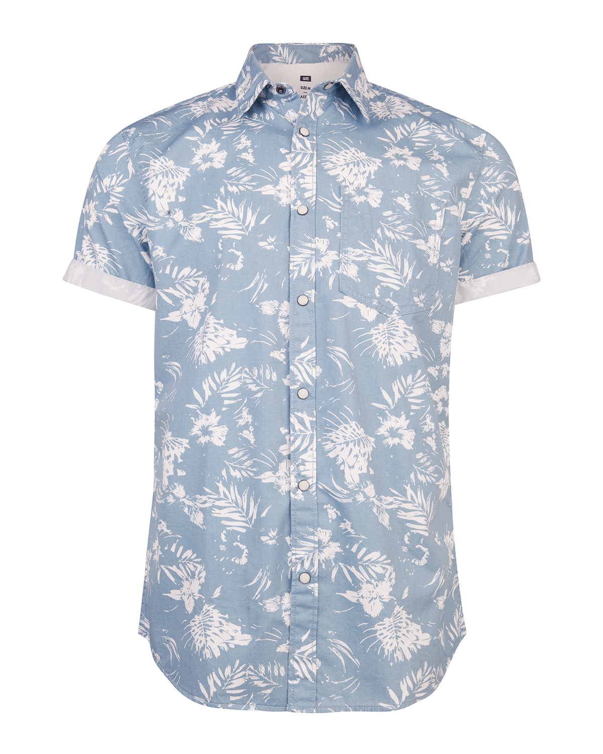 Heren relaxed fit tropical print overhemd