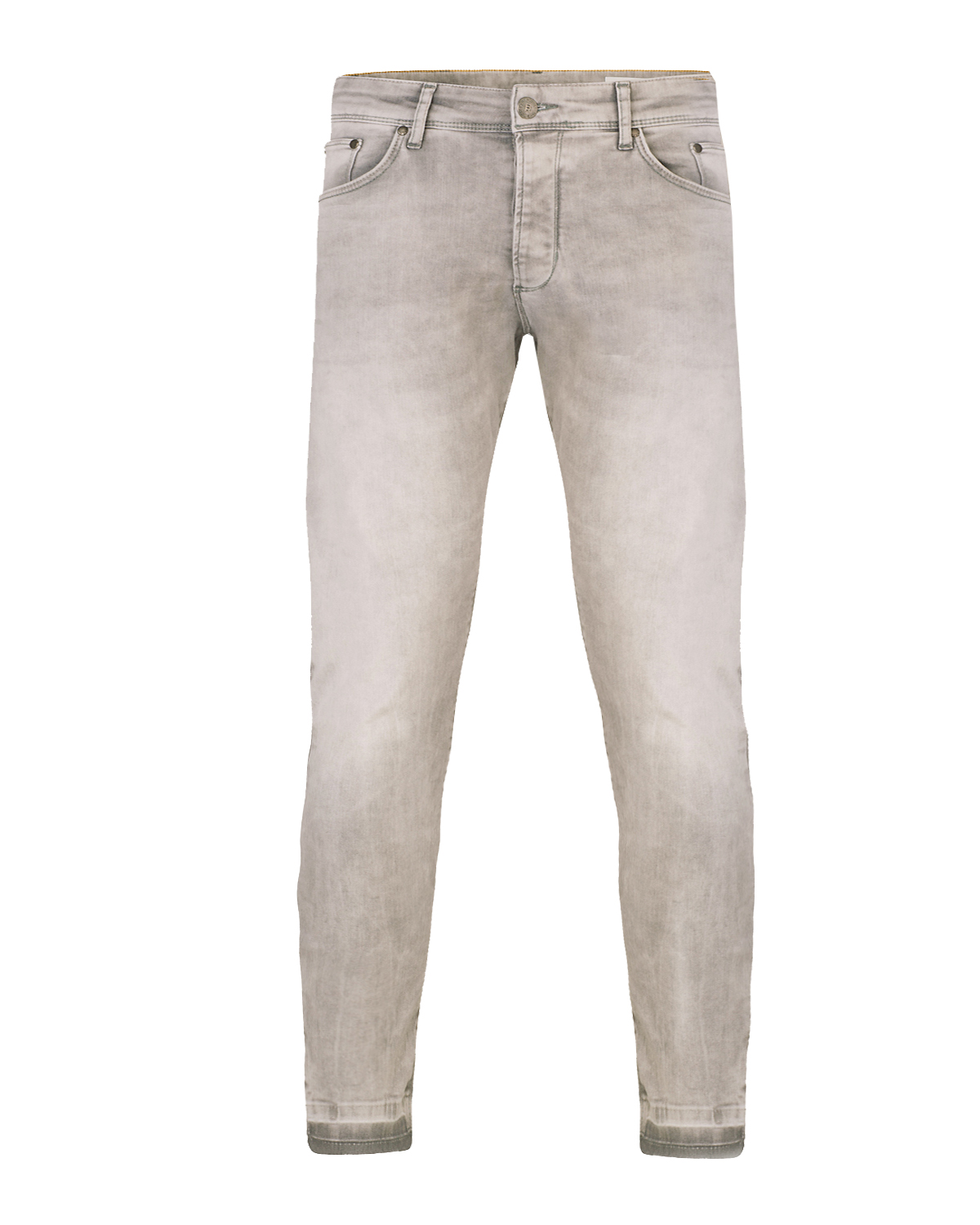Heren skinny cropped tapered super stretch jeans