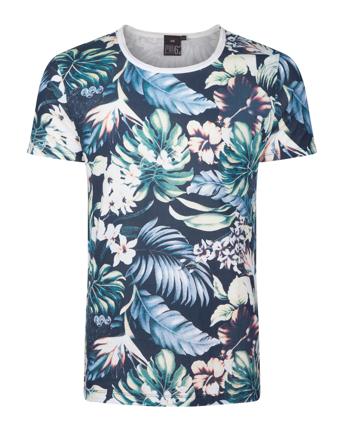 Heren flower print t shirt 78921849 we fashion for Print one t shirt