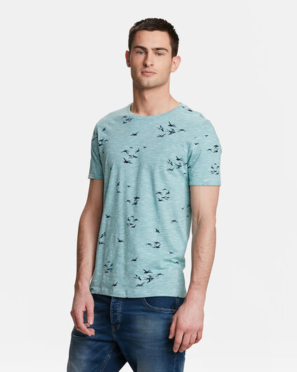 HEREN BIRD PRINT T-SHIRT Mintgroen