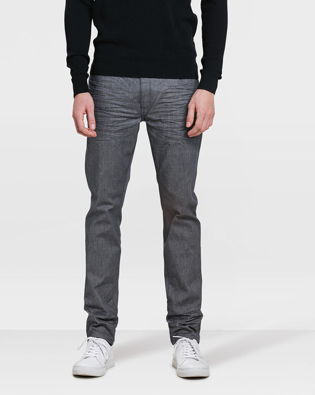 HEREN SKINNY TAPERED SUPER STRETCH JEANS Grijs