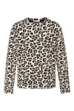 Meisjes jacquard luipaarddessin sweater, All-over print